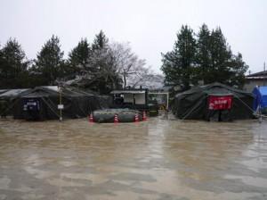 自衛隊設営のお風呂