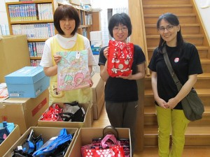 山田第一保育所に夏服バッグをお届けしました