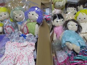 力作ぞろいの手作り人形