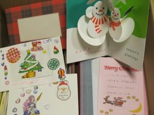 クリスマス便 手書きカードたち