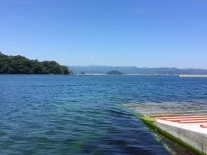 夏祭り便 大浦港にて