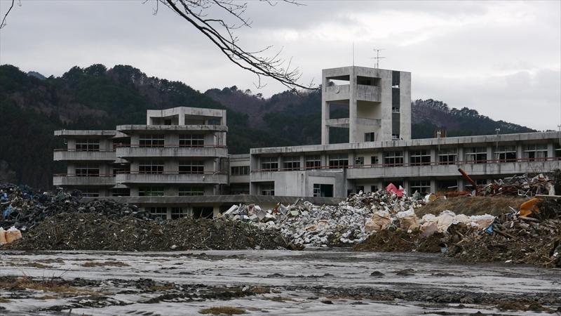 震災後11か月の釜石東中学校