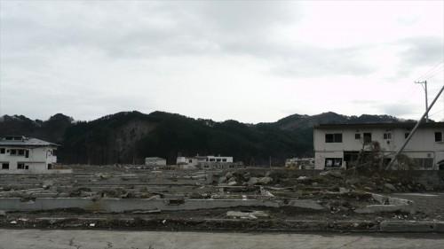 震災翌年2月の鵜住居地区