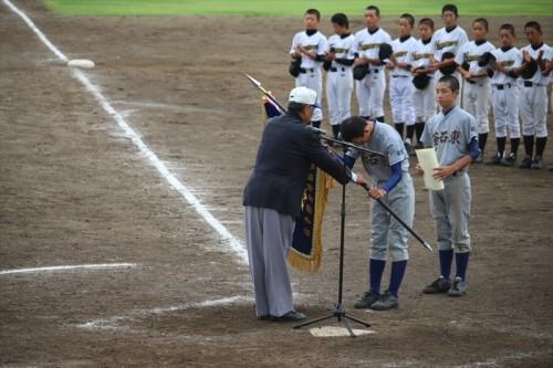 釜石東中学校野球部 予選大会表彰式